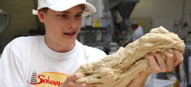 Dreh in der Bäckerei